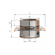 Площадка монтажная одностенная ∅250 (439, 0.8)