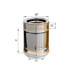 Дымоход 0,25м ∅100 (430, 0.5)