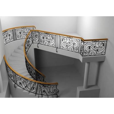 Ограждение балюстрады сложной формы по балкону купить недорого в Новороссийске