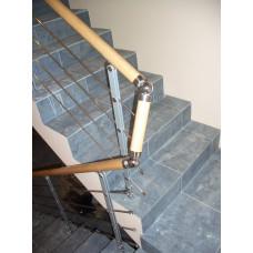 Комбинированное ограждение бетонных лестничных маршей и проема