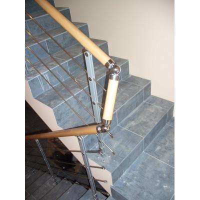 Комбинированное ограждение бетонных лестничных маршей и проема купить недорого в Новороссийске