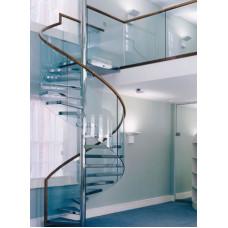 Ограждение спиральной лестницы с гнутым поручнем
