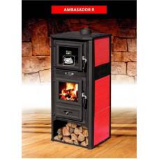 Отопительная печь для дачи с духовым шкафом AMBASADOR R (Амбасадор Р) (BLIST)
