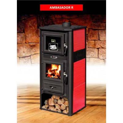 Отопительная печь для дачи с духовым шкафом AMBASADOR R (Амбасадор Р) (BLIST) купить недорого в Новороссийске